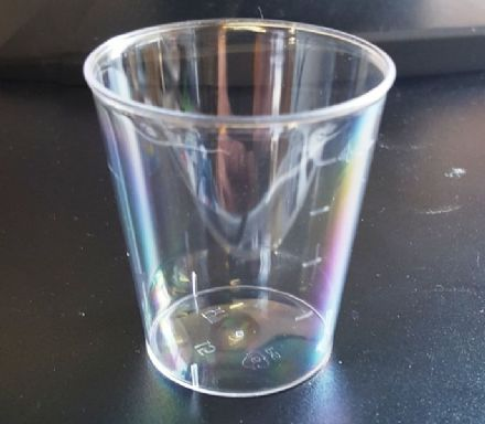 80ml Clear PS Shot Glass - OPTION OF LID